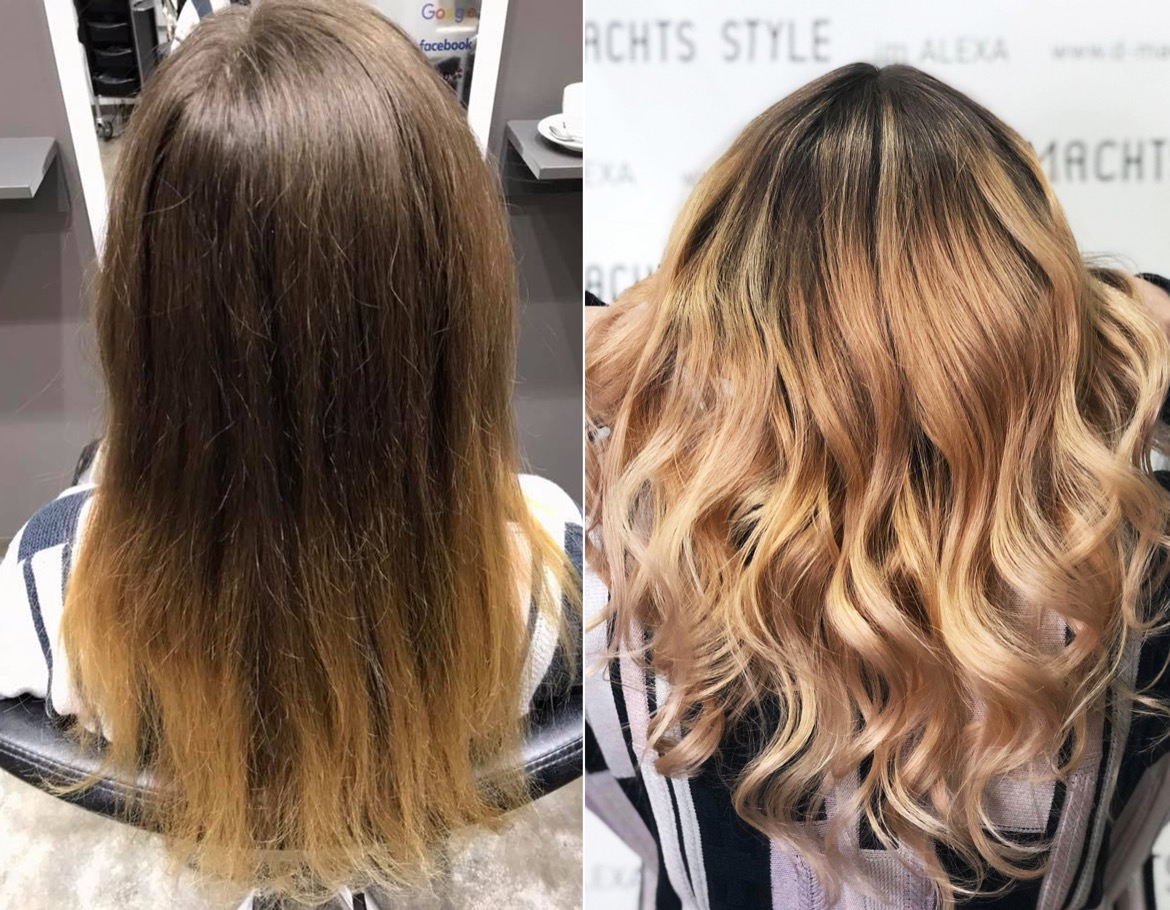 Balayage Ombre Strähnen Low Lights Co
