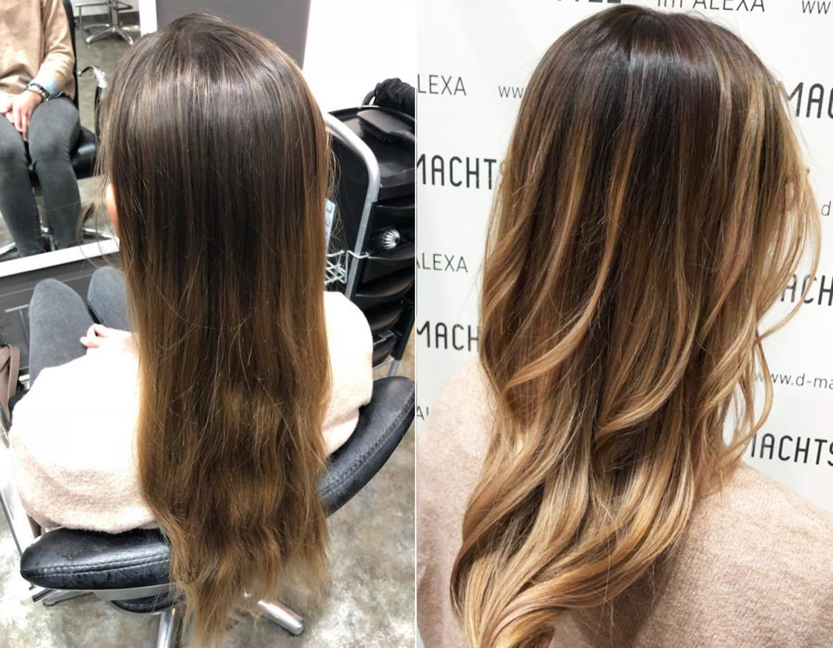 Balayage Ombre Strahnen Low Lights Co