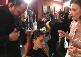 BACKSTAGE SHOW LOREAL FASHION WEEK BERLIN