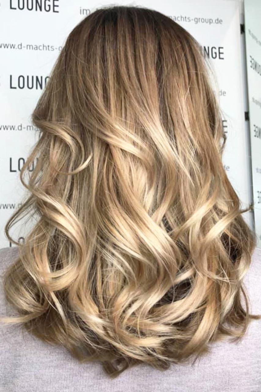 Moderne haarfarben blond