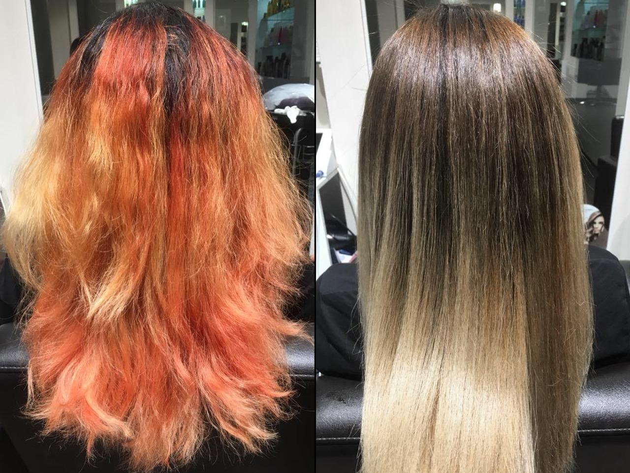 Blond haare wieder färben gefärbte braun Grau gefärbte