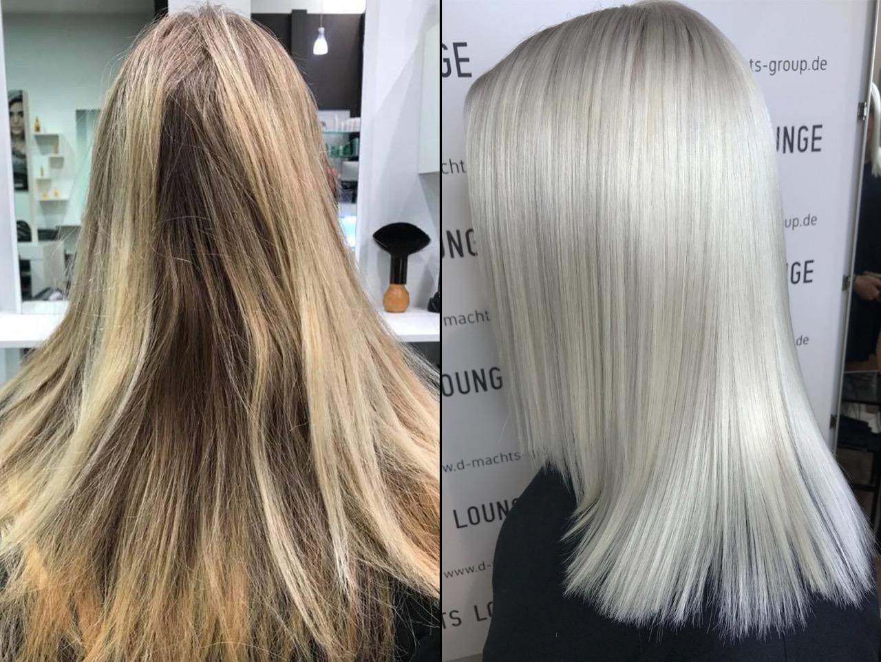 Haare weiß blonde weiss
