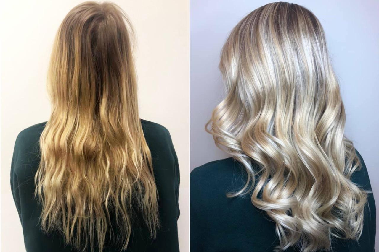 Orangestich aus haaren entfernen