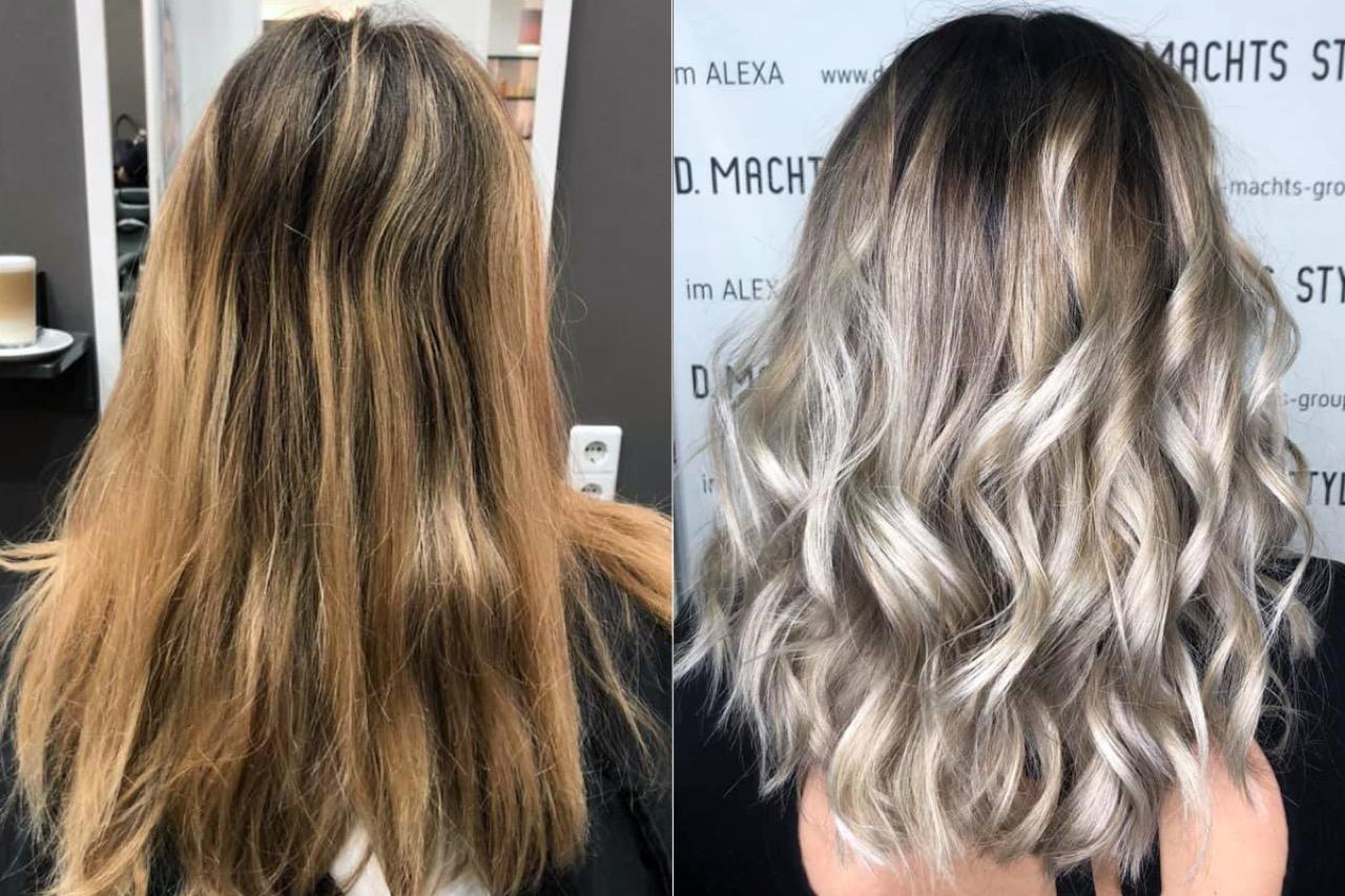 Hellblond Haare