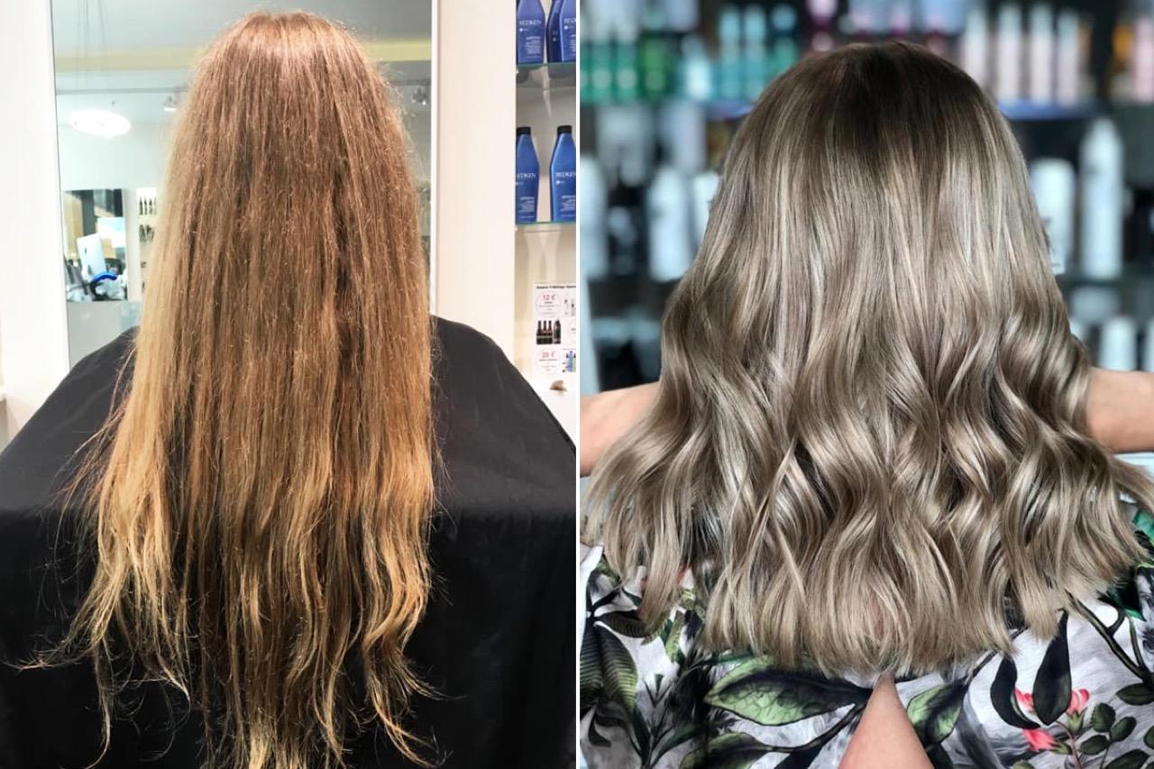 Rotstich entfernen blond Kühles Dunkelblond