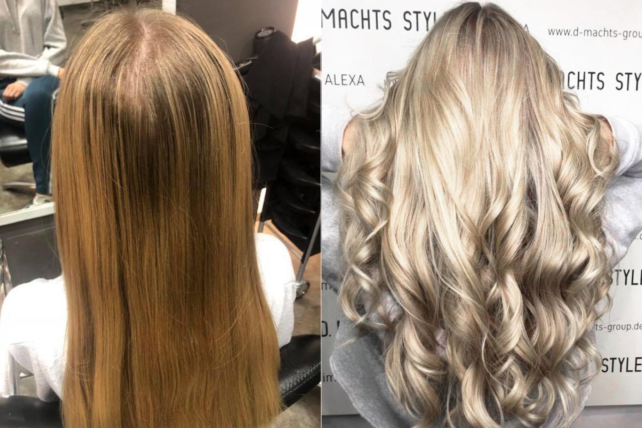Haare blondieren dunkelbraune Mittelbraune Haare