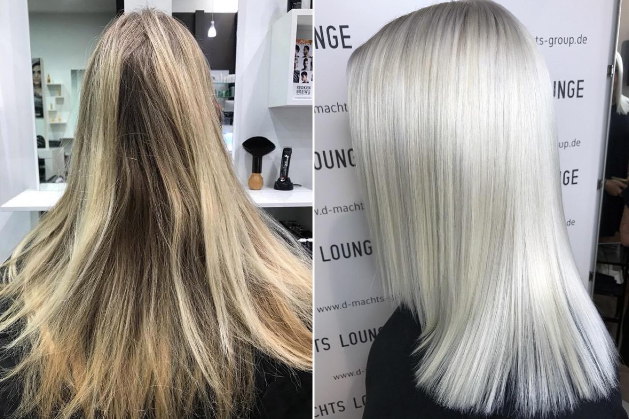 Lange haare schneiden beim friseur