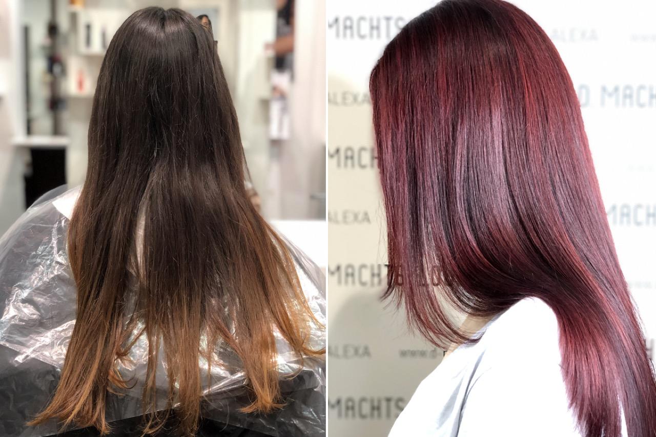 Lange haare leicht stufig schneiden