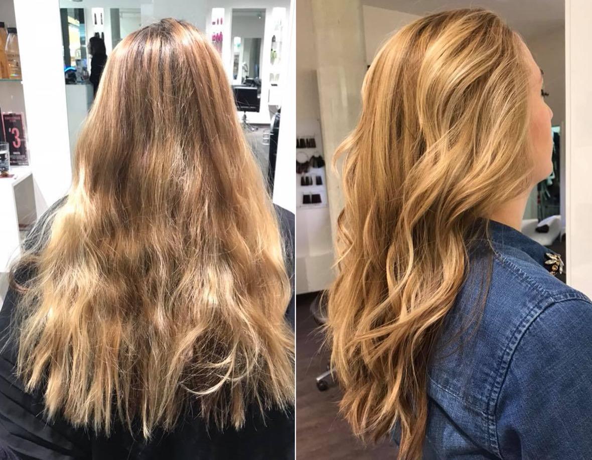 Blonde gebräunte haare haut Wem stehen