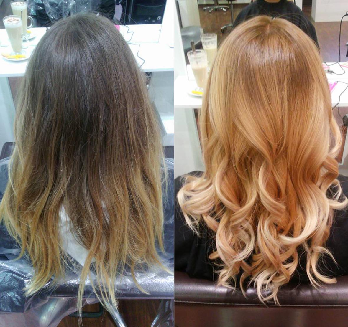 Haare gebräunte haut blonde sehr helle