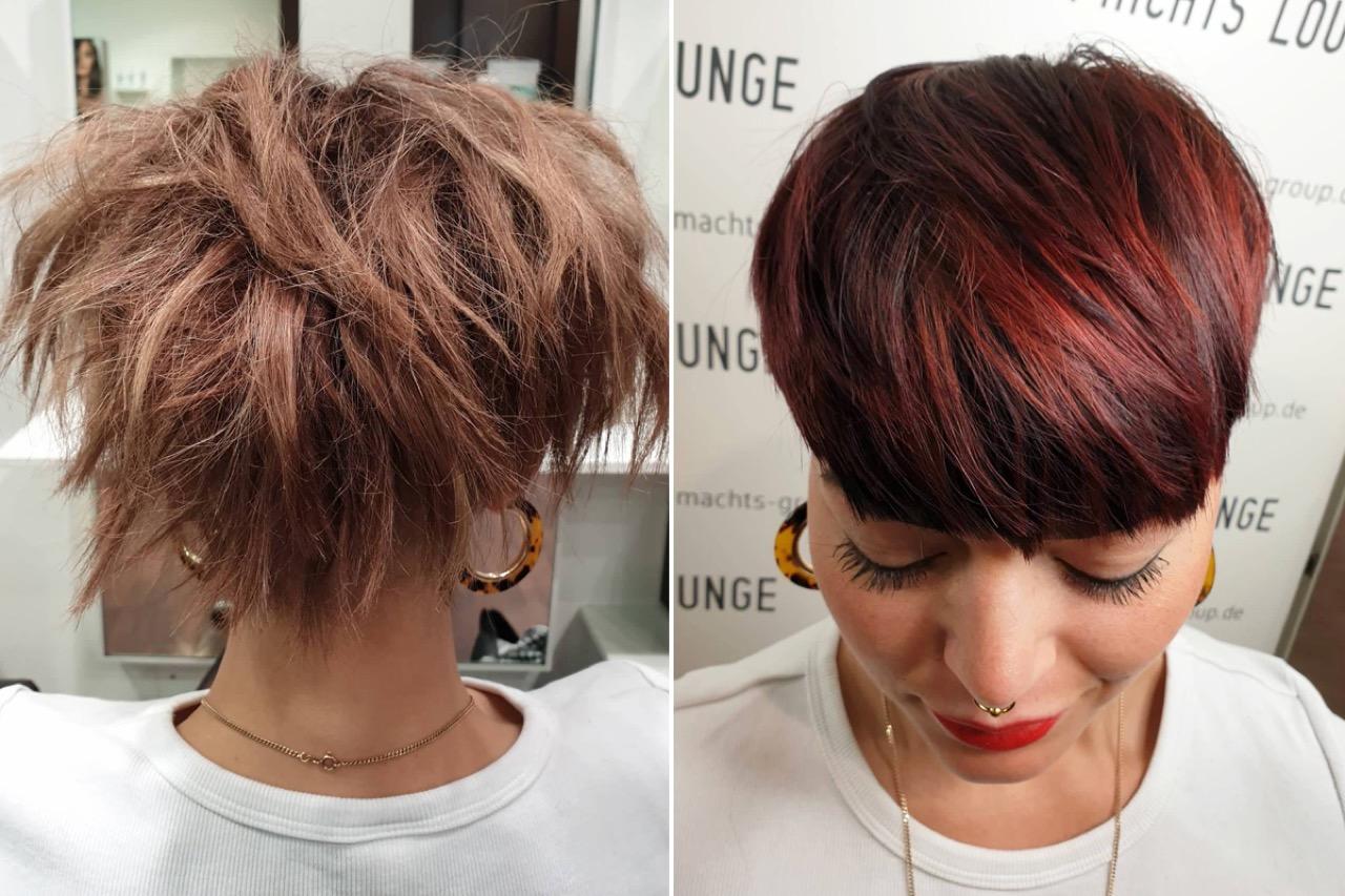 Frisuren 2020 Frauen Mittellang Rot - Frisuren 2021