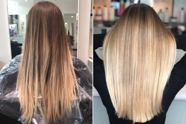 BLOND BALAYAGE FRISEUR D MACHTS LOUNGE MALL OF BERLIN MITTE