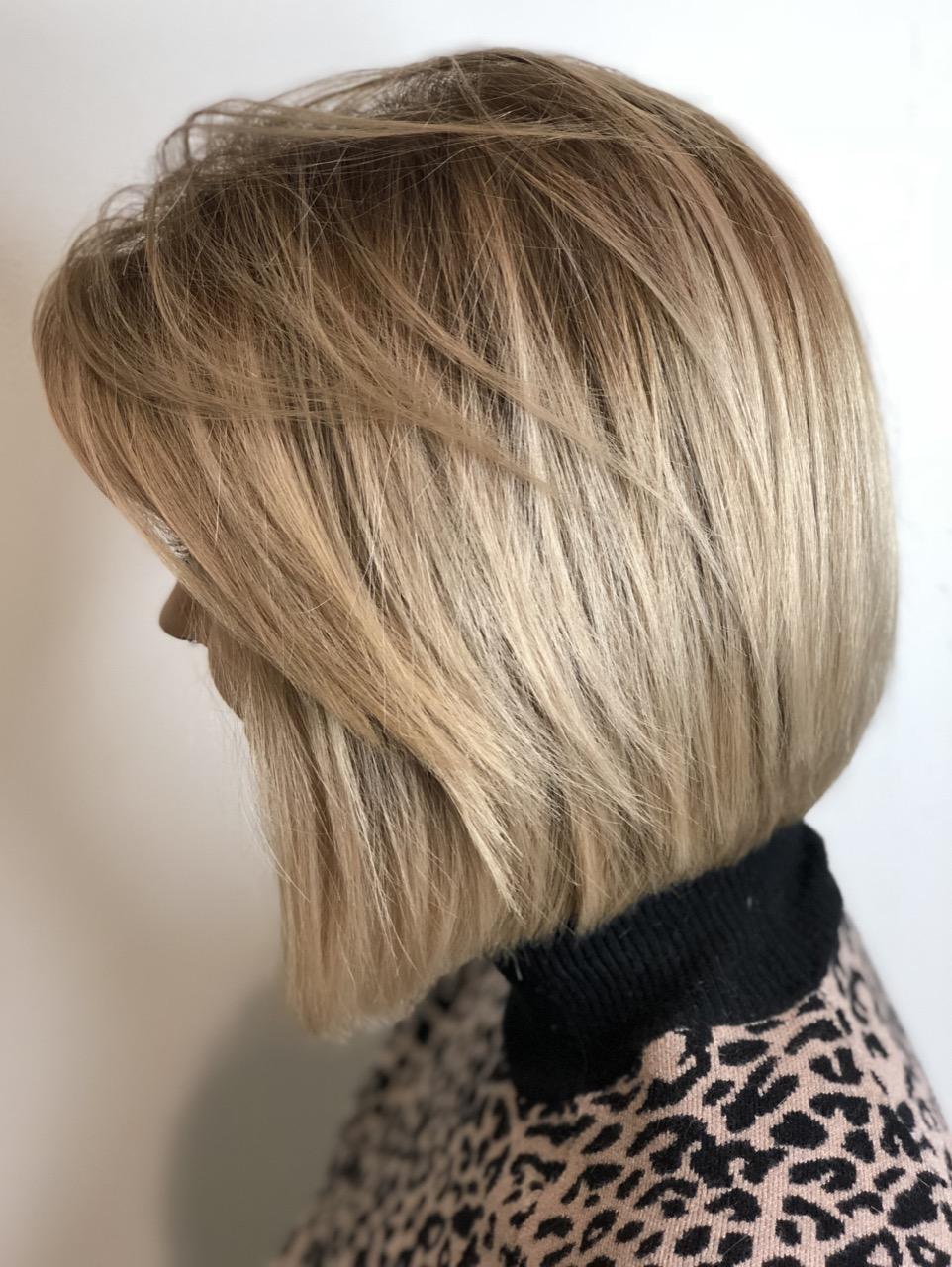 Blonde glatte haare schulterlange Kurze Haare