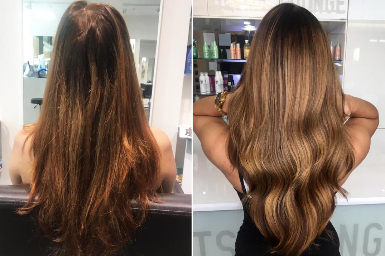 Haare strähnen dunkelbraune helle 3 Ideen
