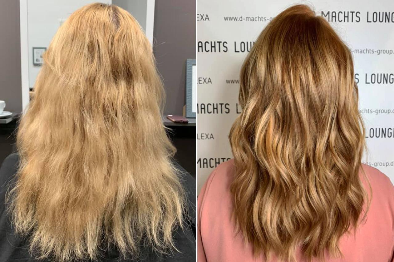 Blonden dunkelblond strähnen mit Moderne, pfiffige