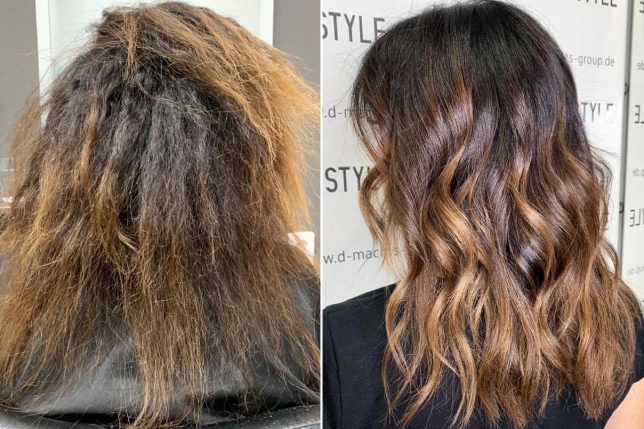 Haare von lang auf kurz vorher nachher