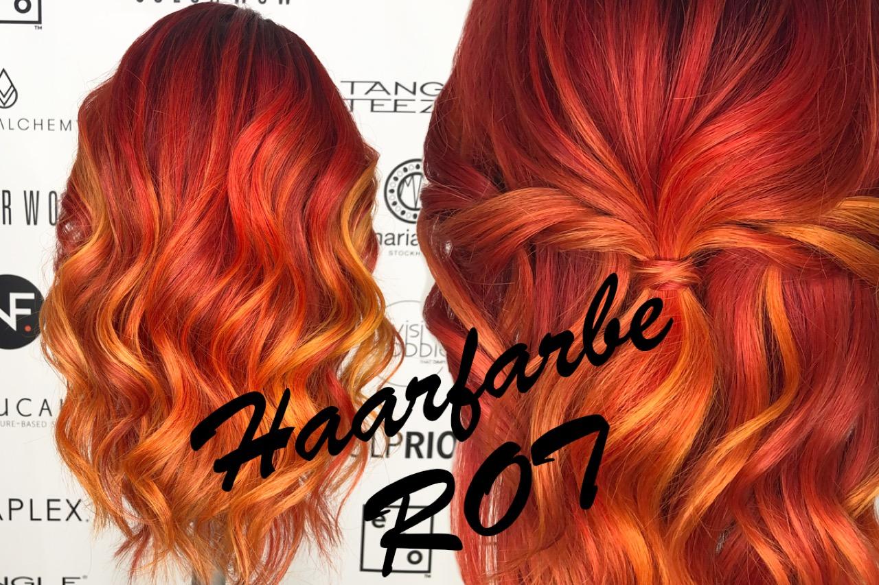 Haare Rot oder Dunkelrot färben  beste Frisuren