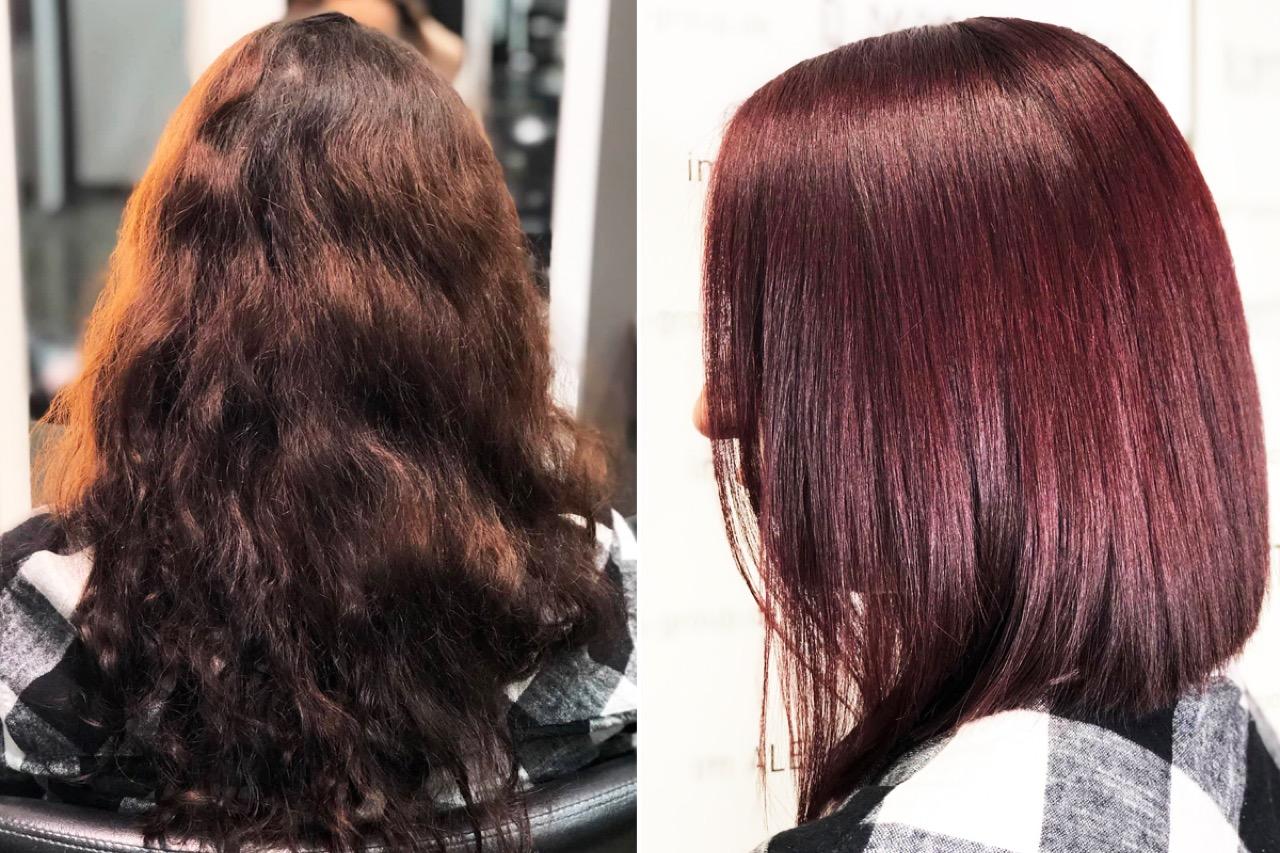 Haarfarbe braun rot