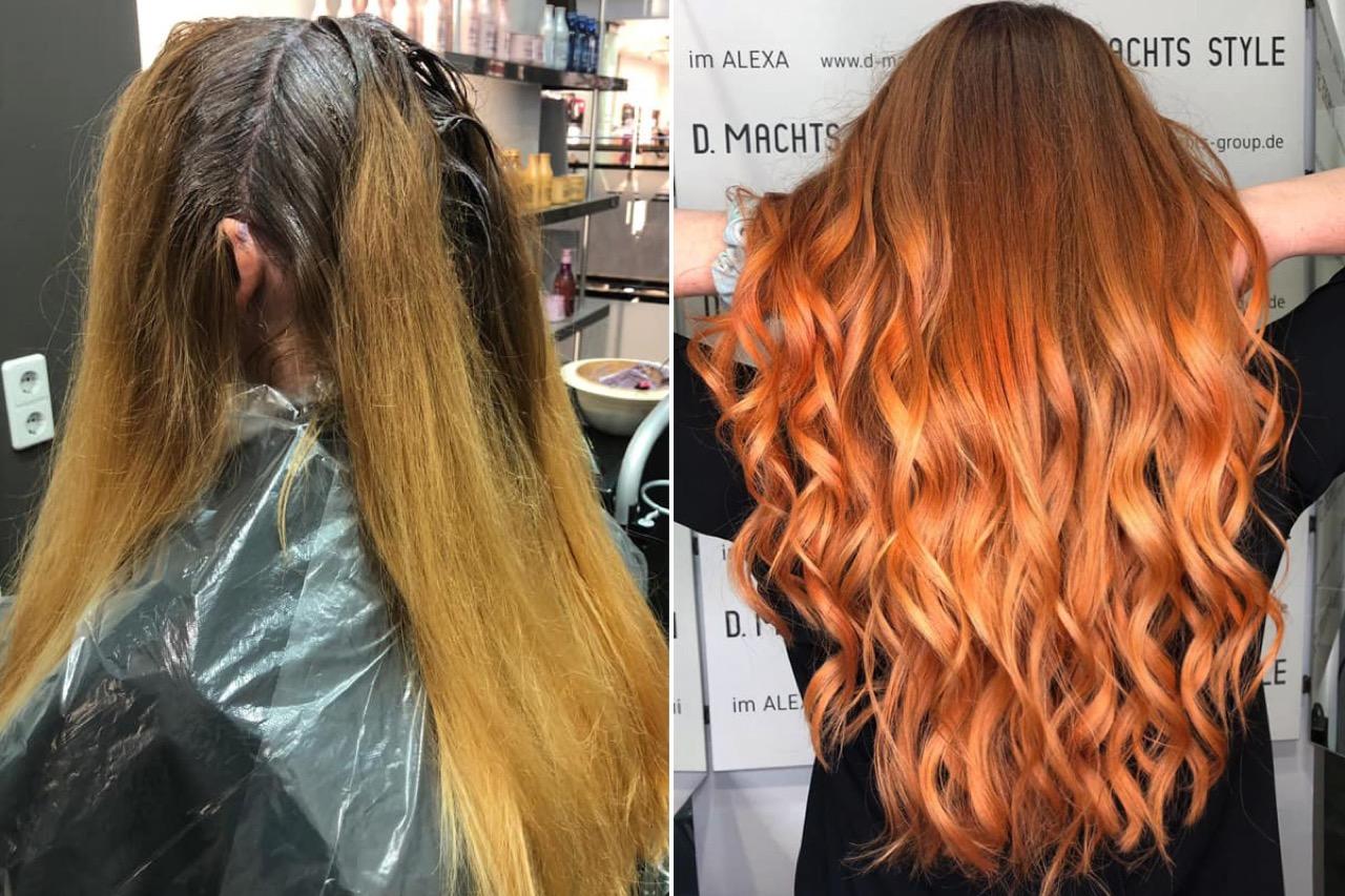 Hellbraun rote färben haare Rote haare