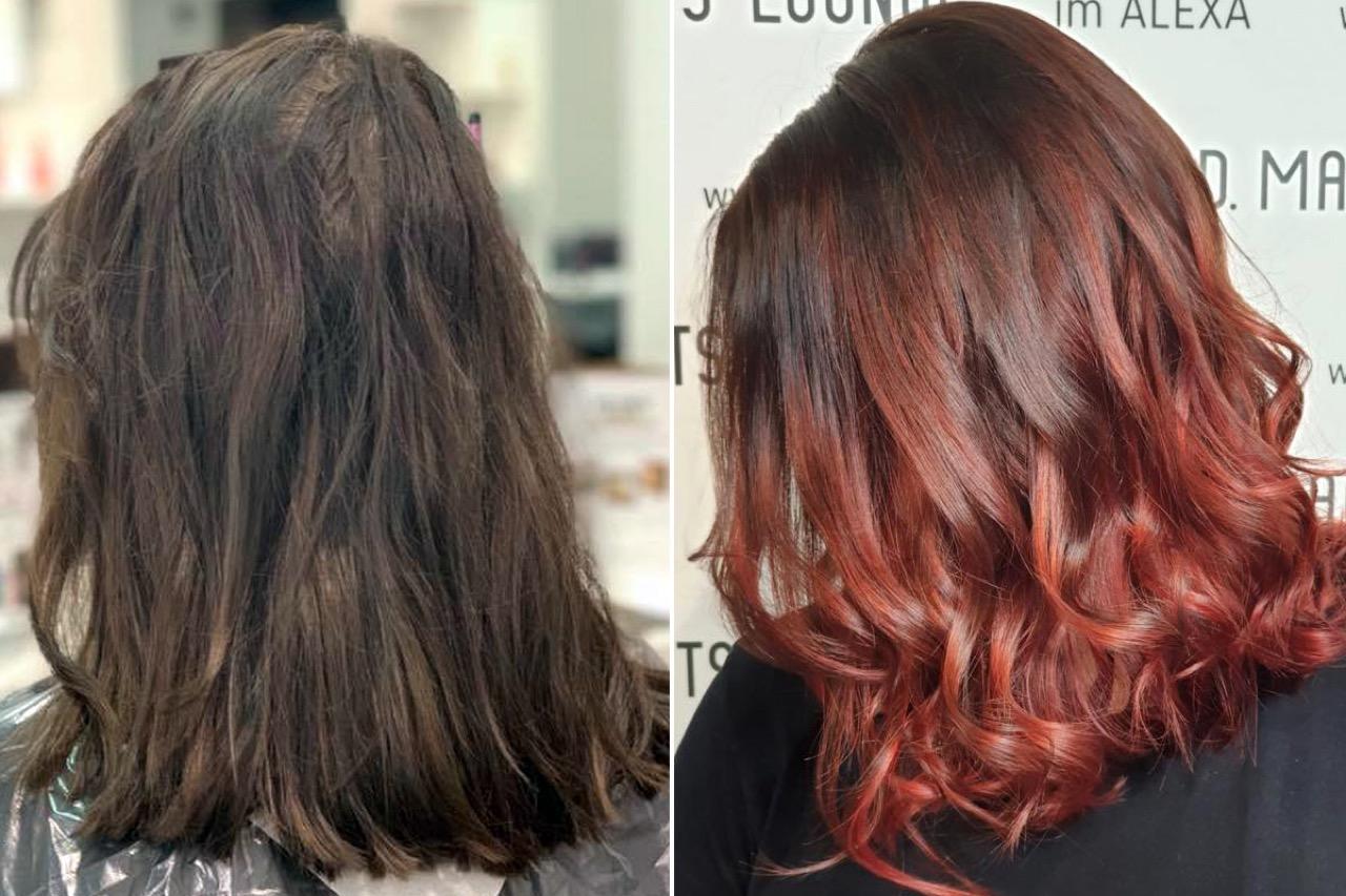 Haare rot färben dunkle Haare Rot