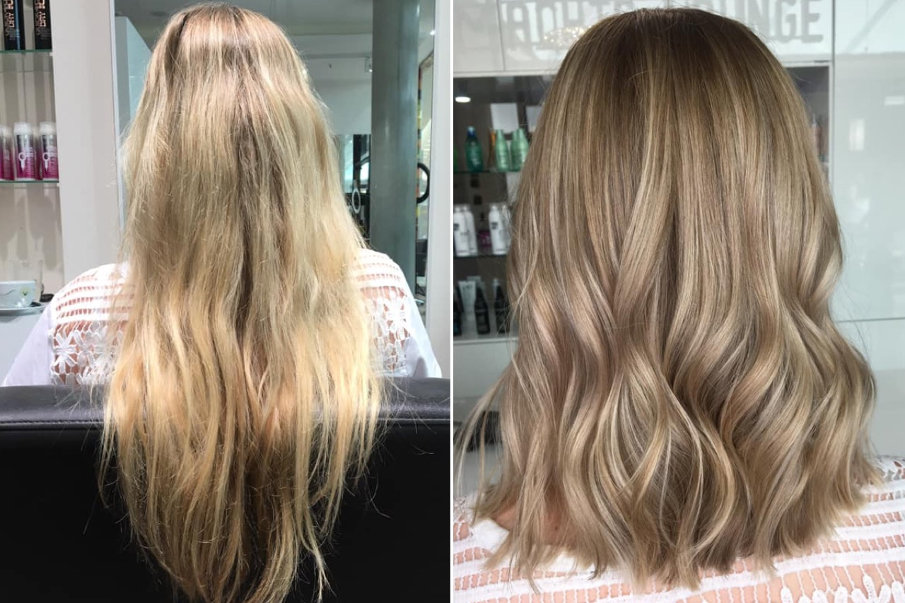 Blond haare wieder färben gefärbte braun Blond gesträhnte
