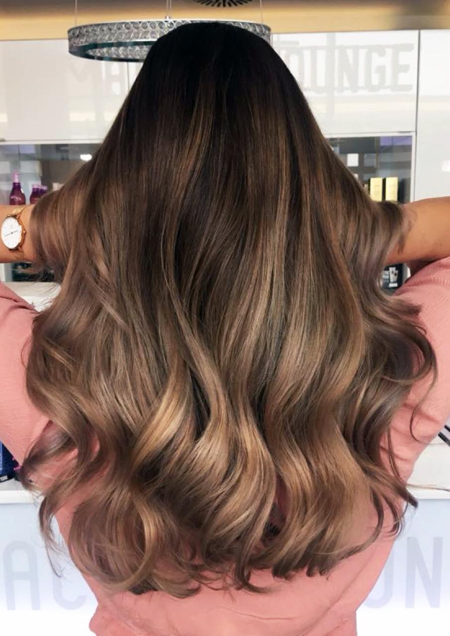 Strähnen haarfarbe braun blonde Braune Strähnchen