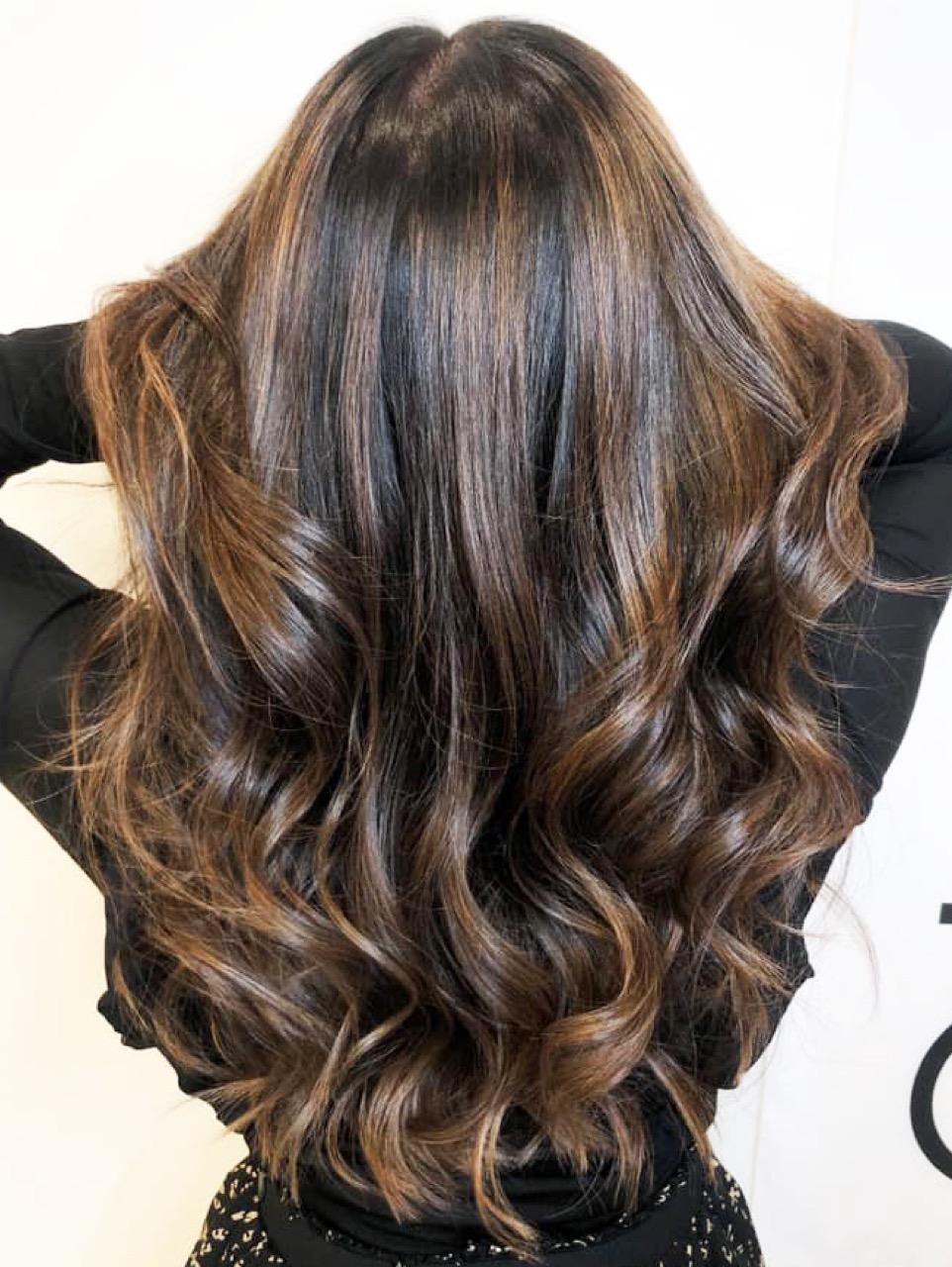 Blonden mit strähnen braun frisur Haare braun