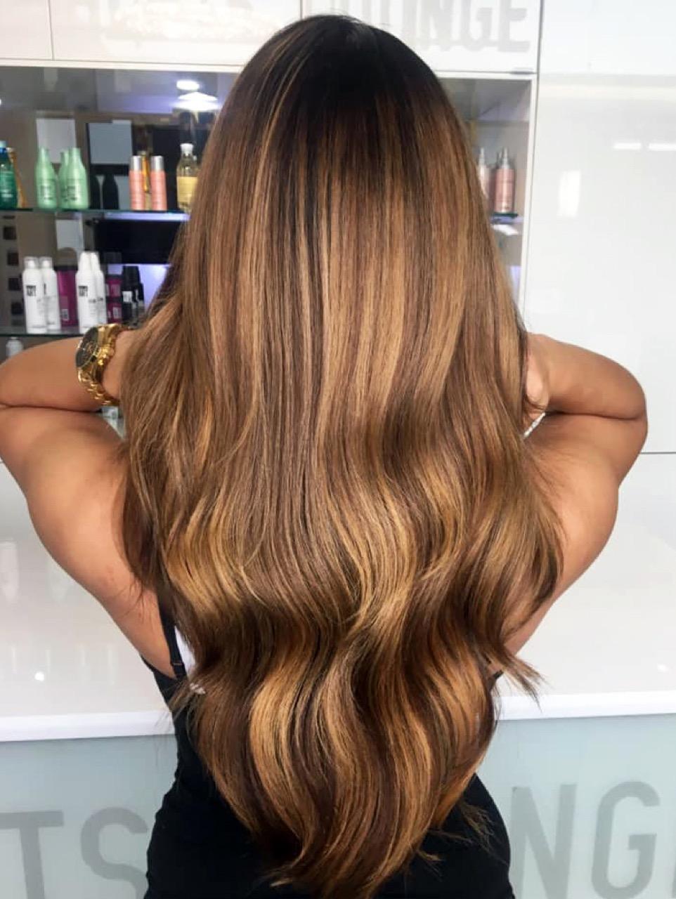 Highlights blonde braune haare Braune Haare: