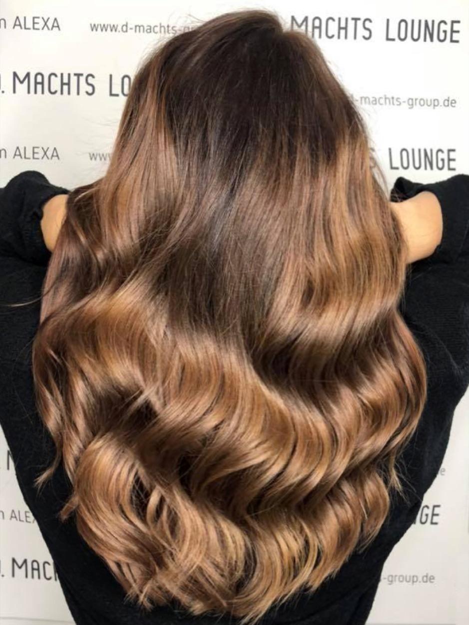 Strähnen braune haare mit blonde Braune Haare