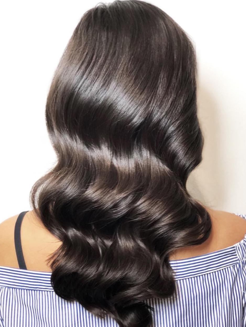Haare von schwarz auf braun