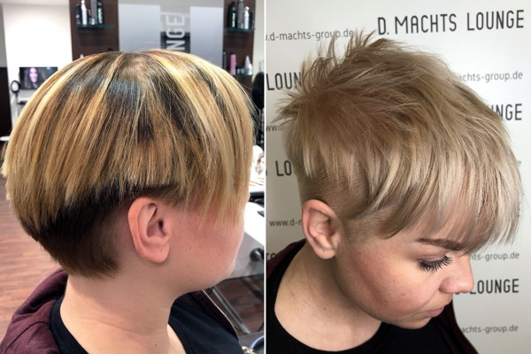PIXIE CUT HAARSCHITT FRAUE