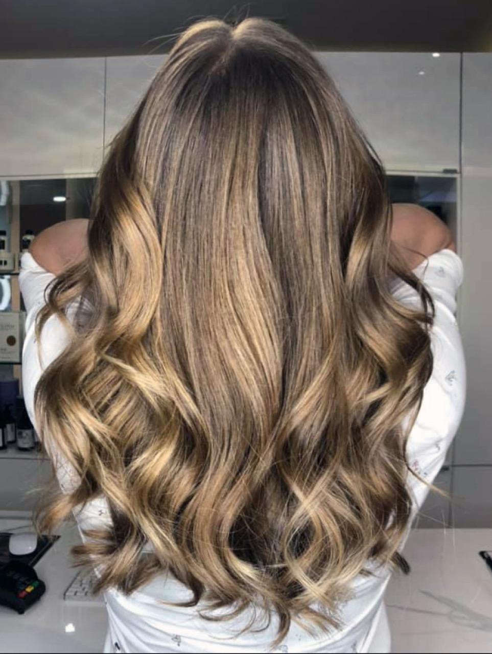 Blonde strähnen lange haare