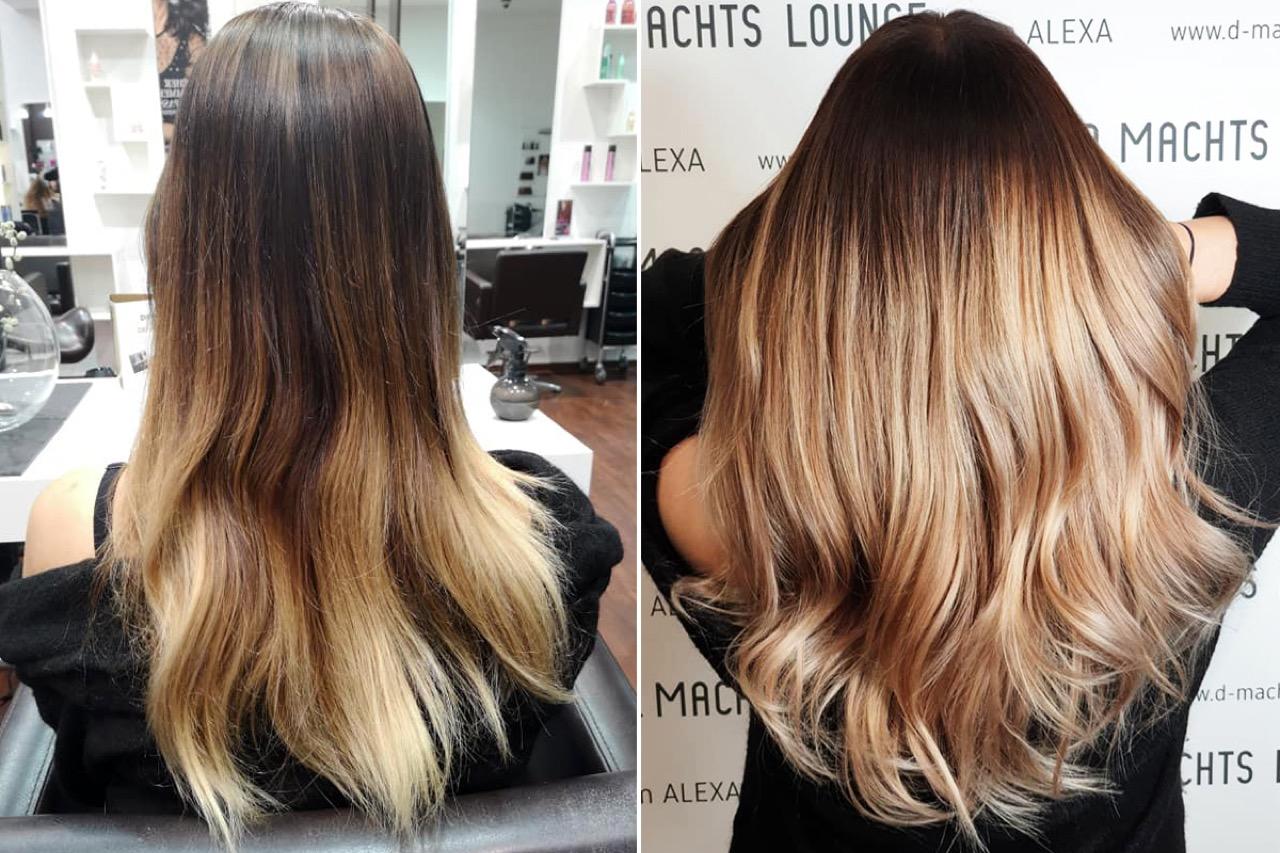 Blonde spitzen ansatz dunkler Blondierte Haare