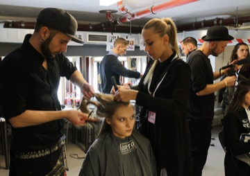 HAIR STYLIST TEAM FASHION WEEK 2016
